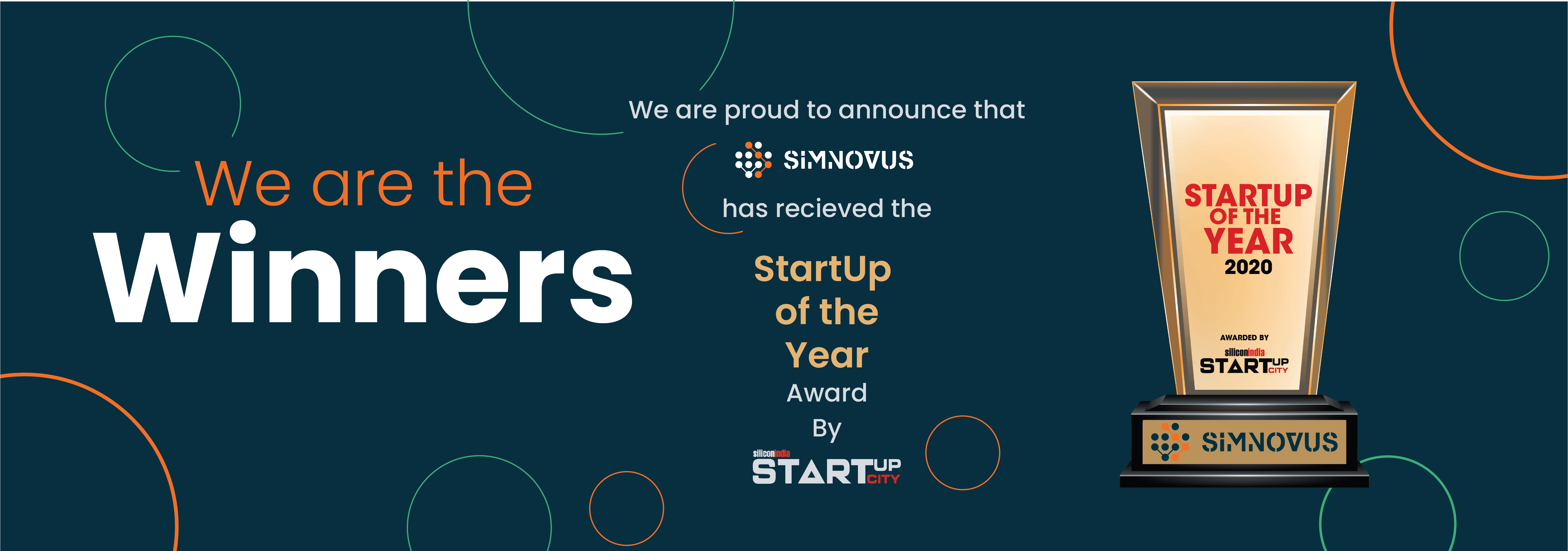 """Simnovus wins SiliconIndia's  """"startup of the year"""" award for '20"""